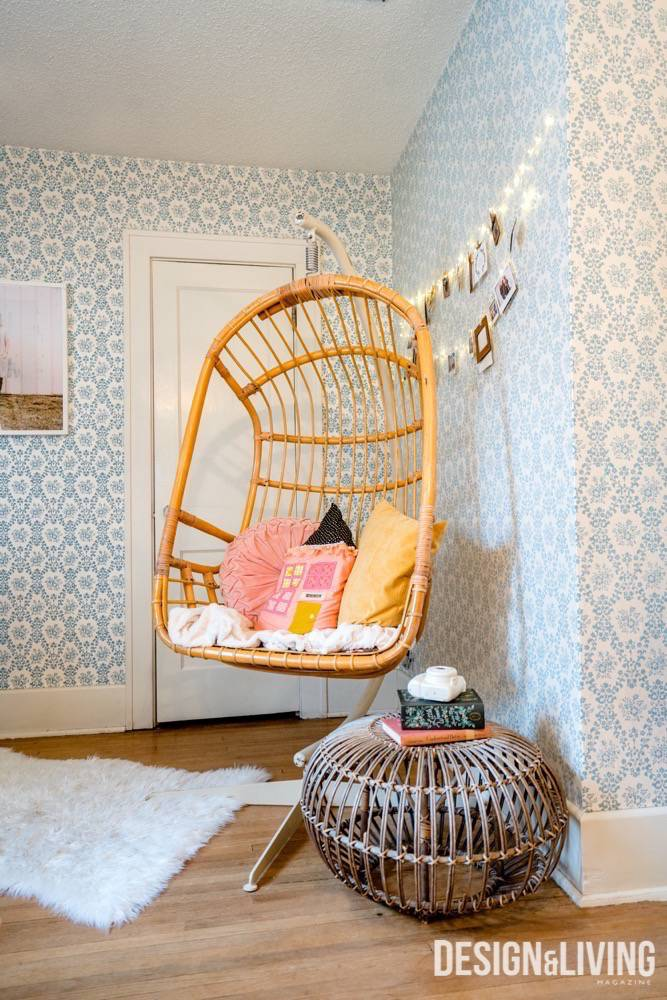 A chair Betsy Schiltz likes to read in in her bedroom