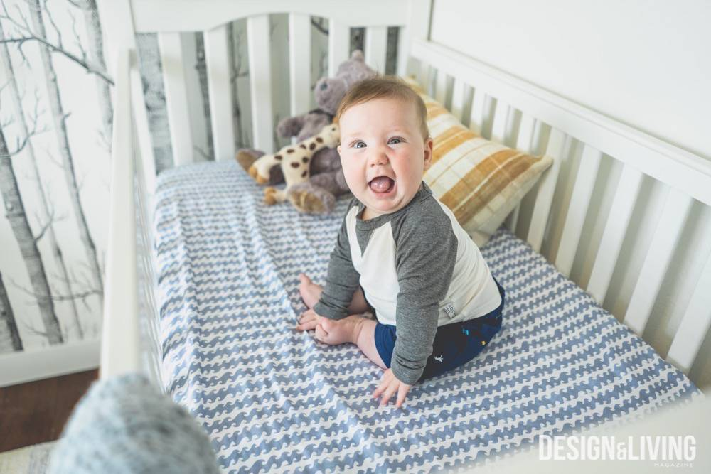 Katie Sullivan's son Kristian in his crib